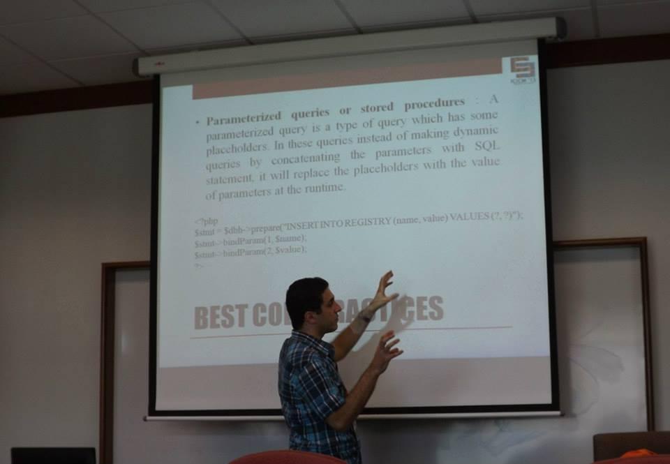 Amir Sadeghian presenting his research paper at a conference in Kuala Lumpur, Malaysia